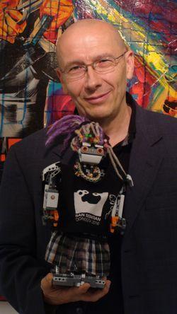 Sirimiri 2.0 en la expo de Claude Leveque en Bruselas