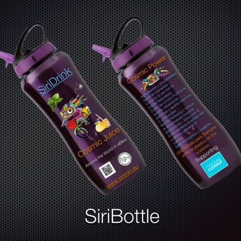 "SiriDrink. Cuidemos el Planeta. Tu botella para ""siempre"""