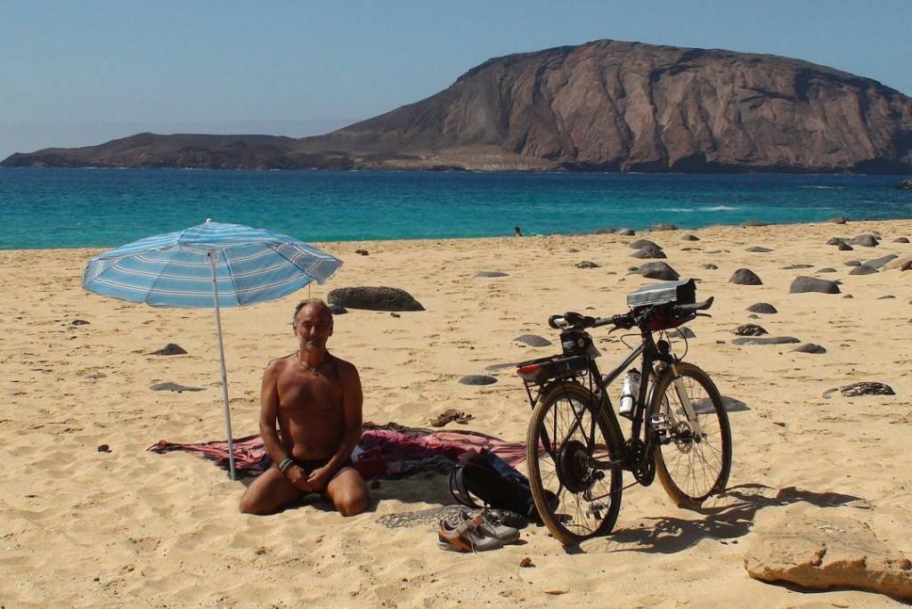 En la Playa de las Conchas